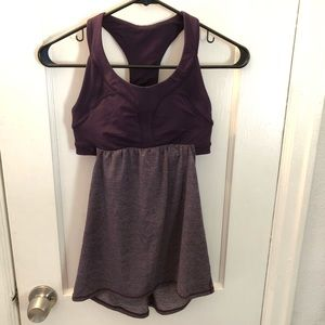 Lululemon Purple Heathered Tank with Open Back